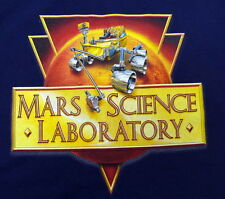MARS SCIENCE LABORATORY CURIOSITY ROVER NAVY T SHIRT XL JPL NASA  NEW
