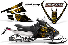 ARCTIC CAT F SERIES SNOWMOBILE GRAPHICS KIT CREATORX DECALS SKULL CHIEF YELLOW
