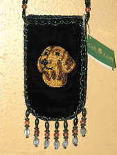 NWT DAUCHSHUND Dog Beaded Bag Mini purse doxie doxen Christmas Stocking stuffer