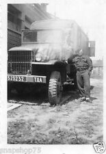 AR556 Photo anonyme vintage camion militaire truck radio 1948