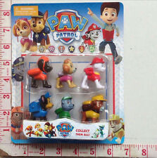 6Pcs Puppy Paw Patrol Toys Action Figures Plastic Puppy Patrol Dog Kids Gifts