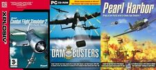 microsoft combat flight simulator 2 & the dam busters & pearl harbor