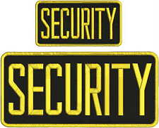 Security  Embroidery Patch 5x11 And 3x6hook on back