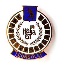 Spilla Torino Italia 61 Console (A.E. Lorioli Fratelli Milano) cm 4 x 4,8