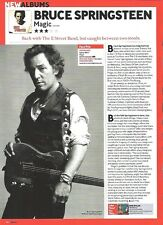 Bruce SPRINGSTEEN Magic album review UK ARTICLE / clipping