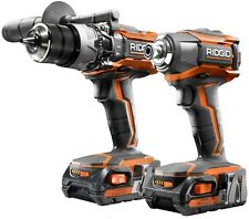 Cordless Hammer Drill Driver Impact Combo Lithium Ion 18 Volt Brushless Tool Kit