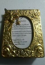 """Kirks Folly Fairy W/ Crystal Star Gold Tone Picture Frame 3"""" by 2 3/8"""""""