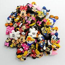 50pcs/Lot Mickey Minnie Donald Duck PVC Shoe Charms Fit Croc/Jibbitz/Wristbands