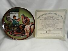 Norman Rockwell 1989 The Inventor and The Judge Knowles Collector Plate Coabox