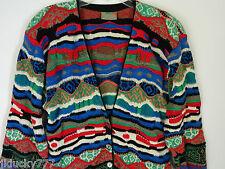 Coogi Australia Multicolor Cardigan Sweater Size Med Mercerised Cotton
