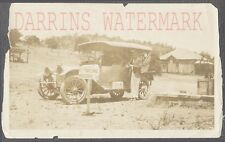 Vintage Car Photo 1910 Automobile w/ Roadside Fresno Yosemite Sign 721808