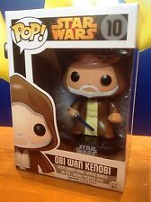 FUNKO POP! Star Wars OBI WAN KENOBI #10 Vinyl Figure NEW (BLACK BOX NOW RETIRED)