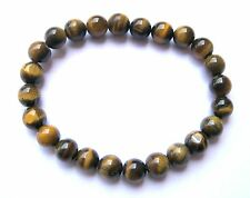 Natural crystal healing protective Tigers Eye Beaded Bracelet gift jewelry power