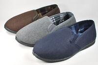 Herren Opas Hausschuh hoher Ferse braun, grau oder blau Gr. 40-45  NEU Top