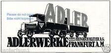 Lastwagen Adler Frankfurt Reklame 1917 LKW Auto Kleyer Anhänger Truck ad Werbung