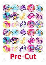 30 x My little Pony Edible Cup/Cupcake edible wafer/rice paper toppers PRE CUT