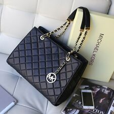 �� WOW! �� 100% BNWT Michael Kors Black SUSANNAH Quilted Lamb Leather Tote Bag