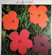 ANDY WARHOL HAND SIGNED SIGNATURE * FLOWERS *  PRINT  W/ COA
