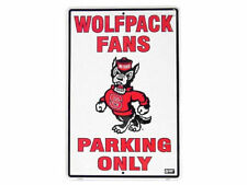 North Carolina State Wolfpack NCSU Fans Only Parking Sign souvenir New 50% off!