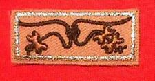 3 BEADS KNOT~ Wood Badge Award Patch Boy Scout Course