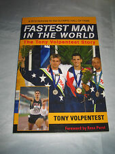 Fastest Man in the World Paralympic Gold Medalist Tony Volpentest SIGNED 2012