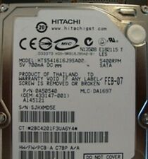 HTS541616J9SA00 MLC:DA1697 PN:0A50540  160gb Sata Laptop Drive
