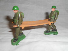 Antique 2 soldiers carrying stretcher Brittains L.T.D. made in England