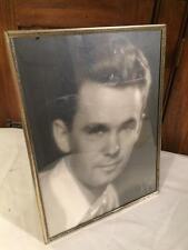 Antique Vintage Silver Tone Photo PICTURE FRAME Velvet Easel Wedding Display