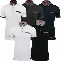 Mens Polo T-Shirt by Brave Soul Contrast Collar Short Sleeved