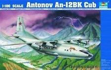 Antonnov An-12bk Cub Fighter 1:100 Plastic Model Kit TRUMPETER