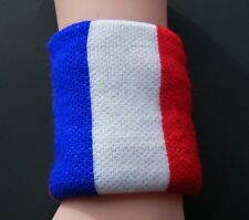 FRANCE FLAG DRAPEAU COOL TENNIS WRISTBAND SOCCER SPORT