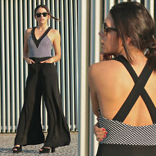 Zara Black & White Combined Jumpsuit Size SMALL BNWT