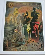 Salvador Dali Poster of  The Hallucinogenic Toreador Half-Naked Famous Man 14x11