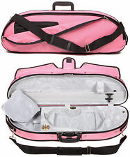 Bobelock Puffy Pink Half Moon 4/4 Violin Case with Grey Velour Interior