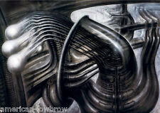 HR Giger Art Poster Print Beaubourg Baphomet Biomechanical Landscape Alien Robot