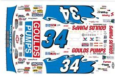 #34 GOULDS PUMPS Chevrolet 1/32nd Scale Slot Car Decals
