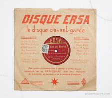 LEON JOUHAUX JULES LAPIERRE CGT C.G.T rare la voix du travail ersa french 78 rpm