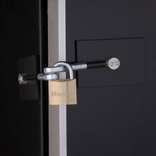 Marinelock Black Refrigerator Door Lock with Padlock