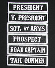 SON OF OUTLAW MC CLUB VICE PRESIDENT OFFICER TITLE BIKER 6 FRONT PATCH SET USA