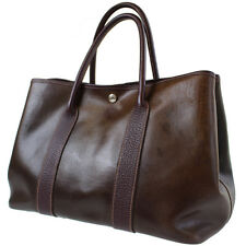 HERMES Garden Party PM Hand Bag Amazonia Brown France Vintage Authentic #5749 M