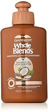 Garnier Whole Blends Smoothing Leave-in Conditioner, Coconut Oil and Cocoa 10.1