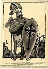 A. Weisgerber, München Der koloniale Reichstag politische Karikatur 1907