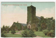 St John's Church Peterborough Ontario Canada 1910c postcard