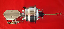 1967 1968 1969 camaro chrome brake booster master with disc drum prop valve 8""