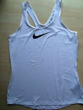 Nike Pro Gym Vest Tank Top, White With Black Logo Size  L New