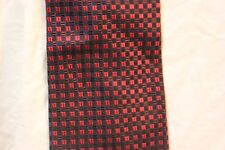 Ezio Dress Neck tie 100% silk red, black