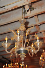 Murano Antique Venetian Chandelier Blown Glass w/5 Candles