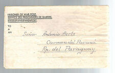 1946 Egypt MELF Germany Prisoner of War  POW Ltr Cover to Paraguay Antonio Aerts