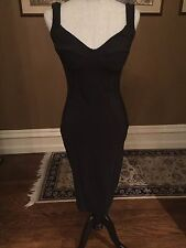 $795 LA PETITE ROBE di CHIARA BONI DUSE DRESS IN BLACK SZ 42/6 NWT CURRENT 2016