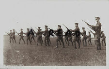 WW1 Soldier KCB Kent Cyclist Battalion carrying out rifle drill
